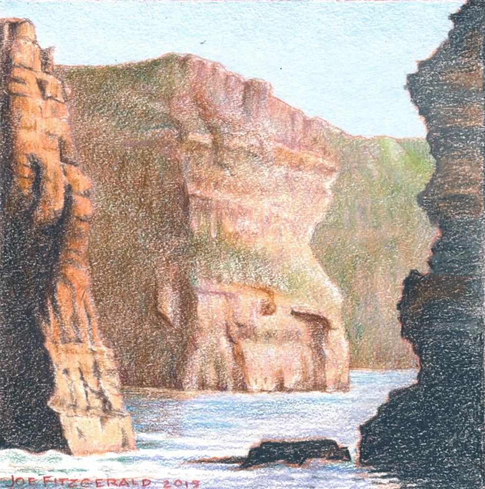 """Sailing Round Moher IV"" original fine art by Joe Fitzgerald"