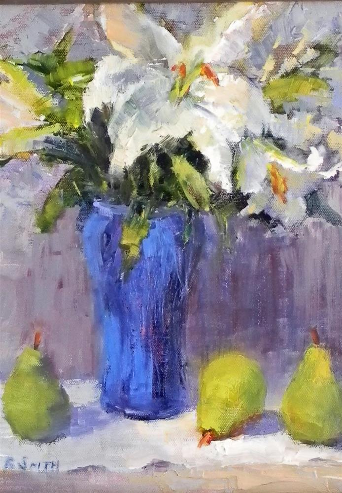 """Still Life With Pears"" original fine art by Barbie Smith"