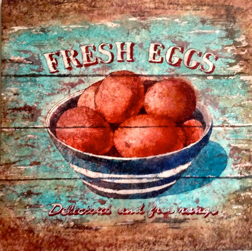 """Scrambled or Fried?"" original fine art by Diane Fujimoto"