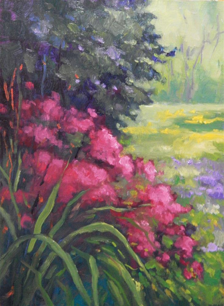 """At the Gardens Edge"" original fine art by Lisa Kyle"