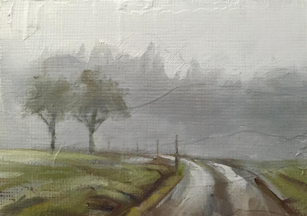 """Foggy Road"" original fine art by Gary Bruton"
