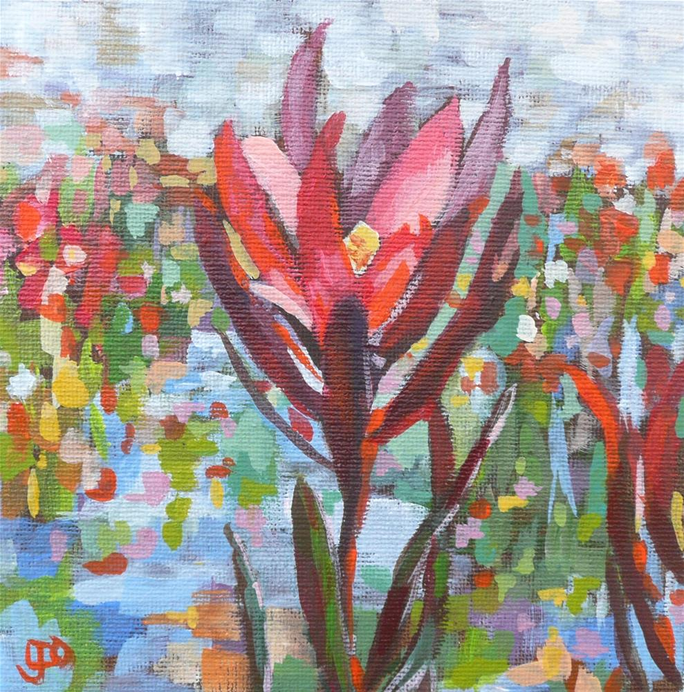 """Flower Symphony"" original fine art by Leanne Owen"