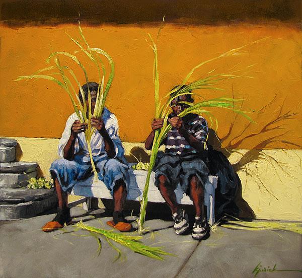 """Palm Monday"" original fine art by Karin Jurick"