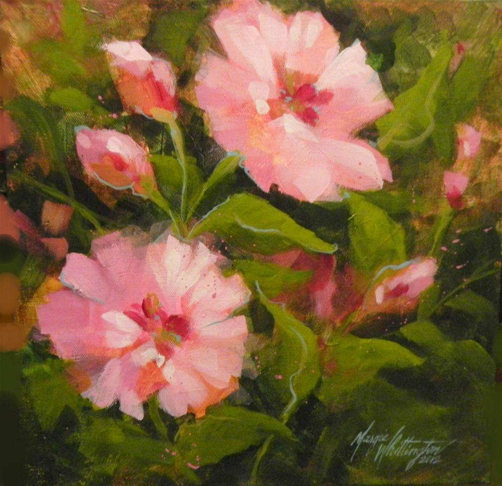 """Pinks"" original fine art by Margie Whittington"