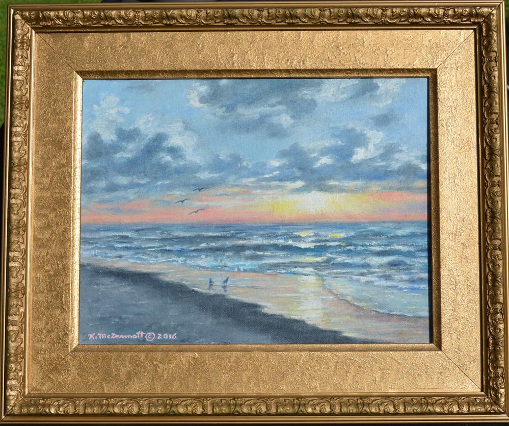 """""""Myrtle Beach Sunrise by K. McDermott"""" original fine art by Kathleen McDermott"""