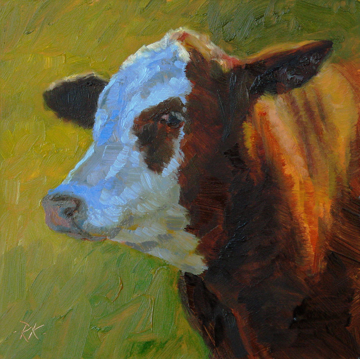 """Sly"" original fine art by Rita Kirkman"