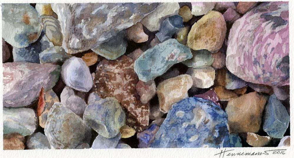 """Rocks I"" original fine art by Eileen Hennemann"