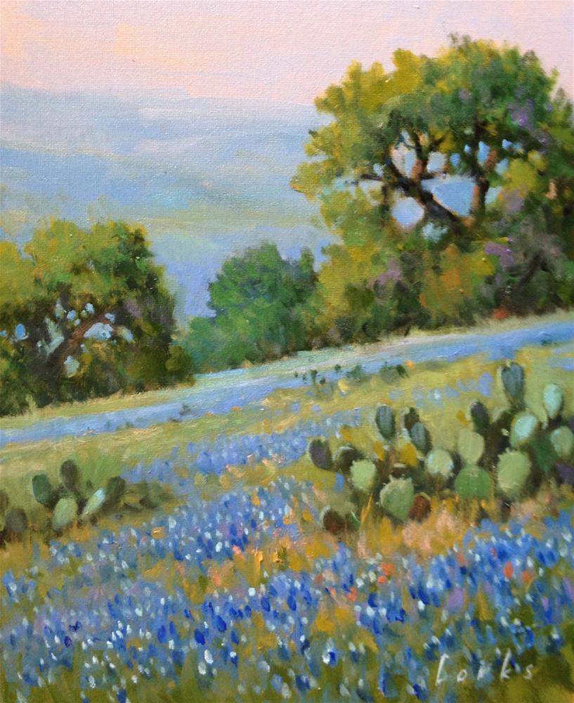 """Blue in the Hills"" original fine art by David Forks"