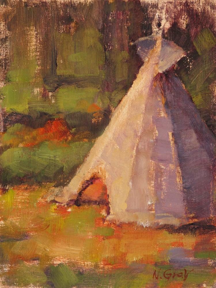 """Teepee at Hidden Valley"" original fine art by Naomi Gray"