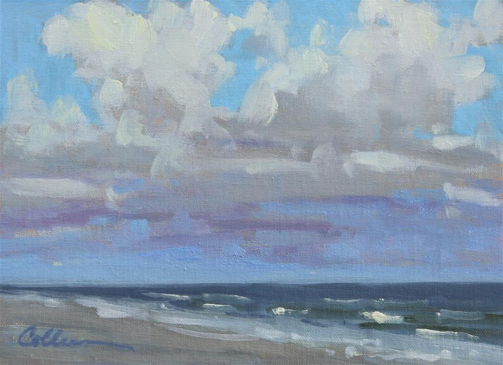 """A Day for the Beach"" original fine art by Colleen Parker"