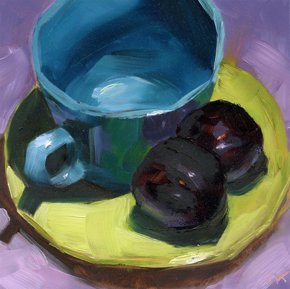 """Plum Empty"" original fine art by Cynthia Armstrong"