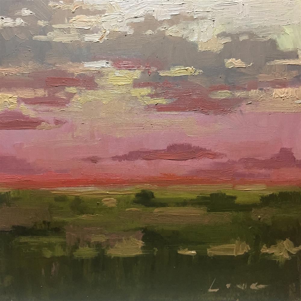 """Morning Red Sky"" original fine art by Chris Long"