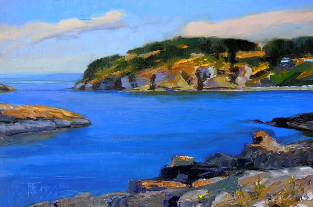"""Rosario Beach Deception Pass State Park, plein air oil painting by Robin Weiss"" original fine art by Robin Weiss"