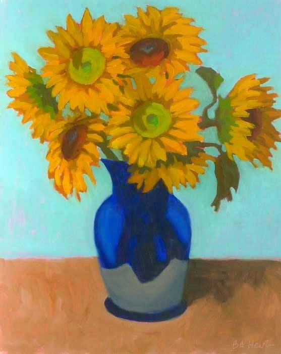"""Vase of Sunshine"" original fine art by Bobbi Heath"