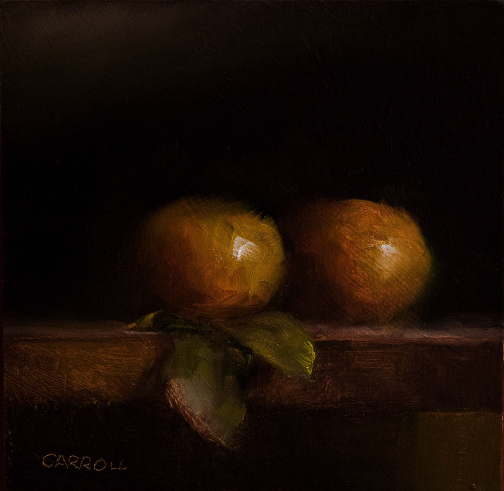 """Two Clementines"" original fine art by Neil Carroll"