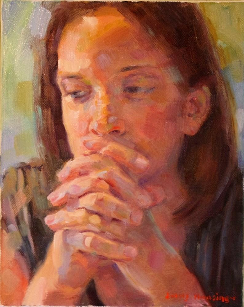"""""""Hand Study"""" original fine art by jerry hunsinger"""