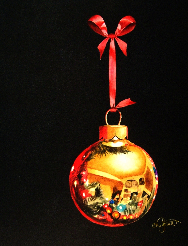 """A Christmas Bauble"" original fine art by Jacqueline Gnott, whs"