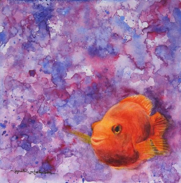 """Just Keep Swimming"" original fine art by Jana Johnson"