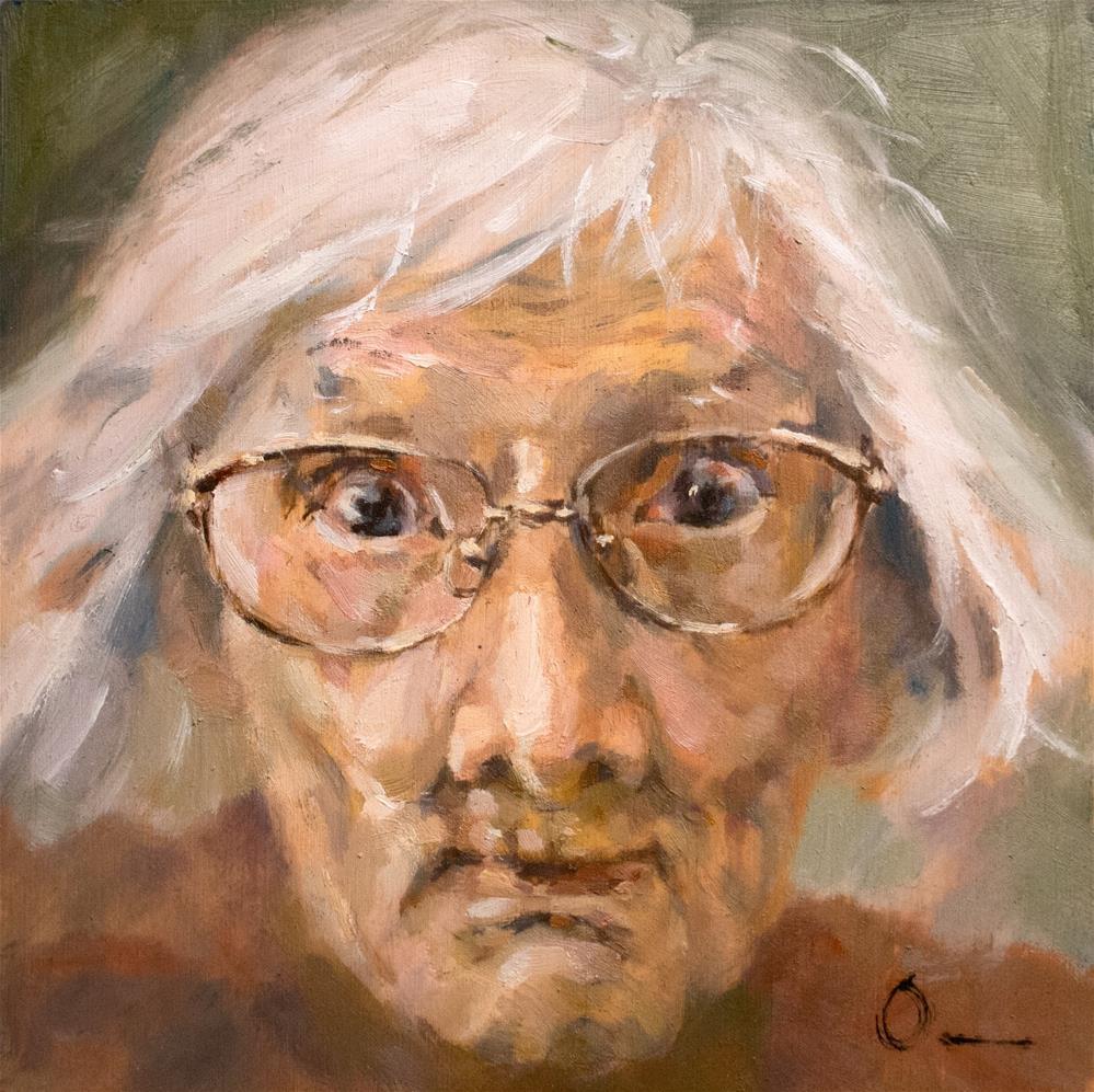 """Cutie Grandma"" original fine art by Anny Kong"