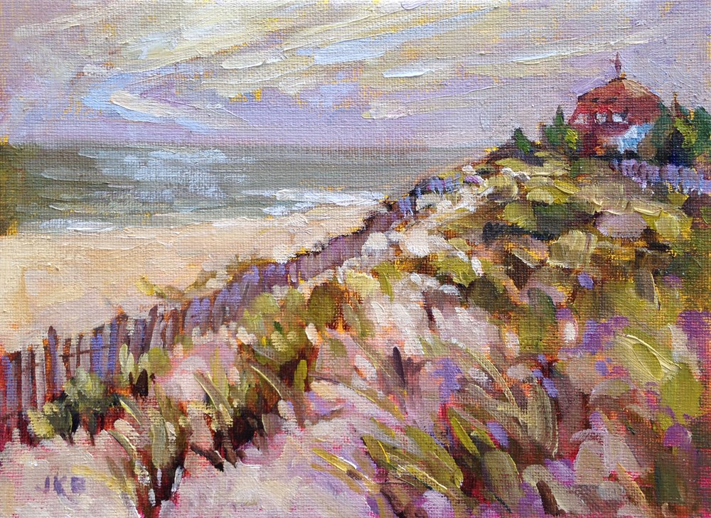 """At Cape May Point"" original fine art by Jeanne Bruneau"