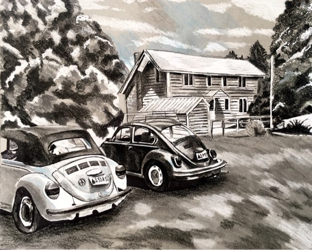 """Beetles"" original fine art by Piya Samant"