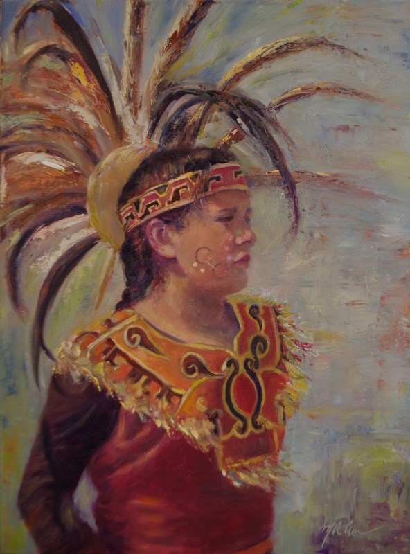 """Ancestral Ties"" original fine art by Marilyn R. Place"