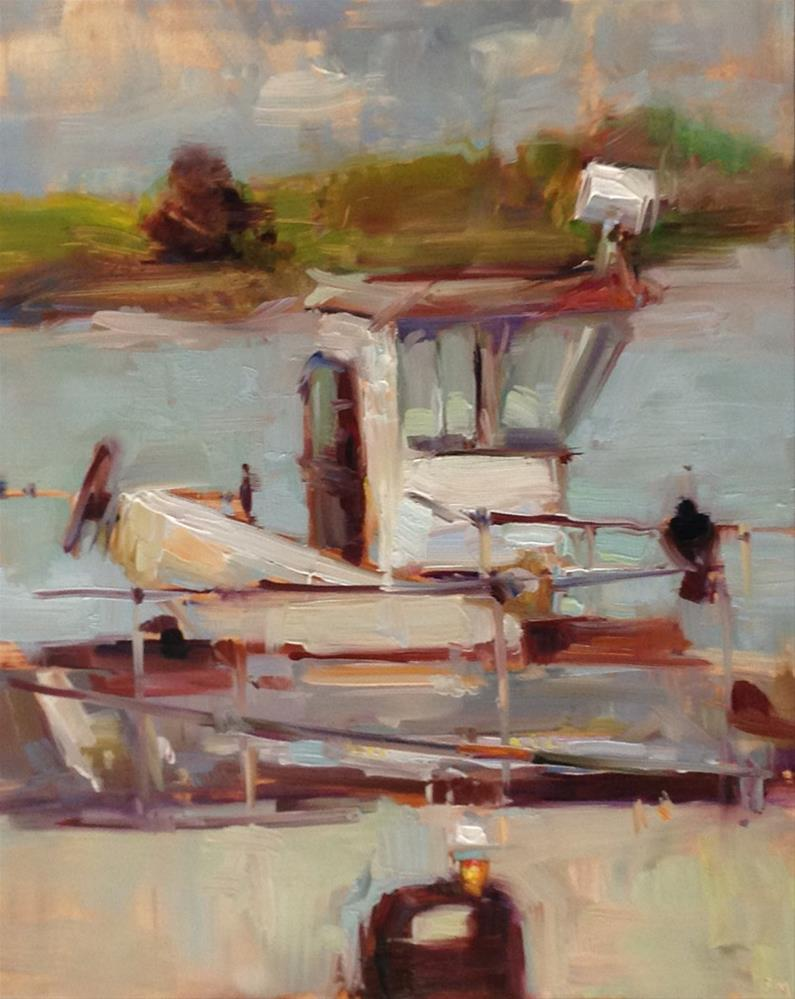 """A Little Bit of A Very Big Tugboat"" original fine art by Patti McNutt"