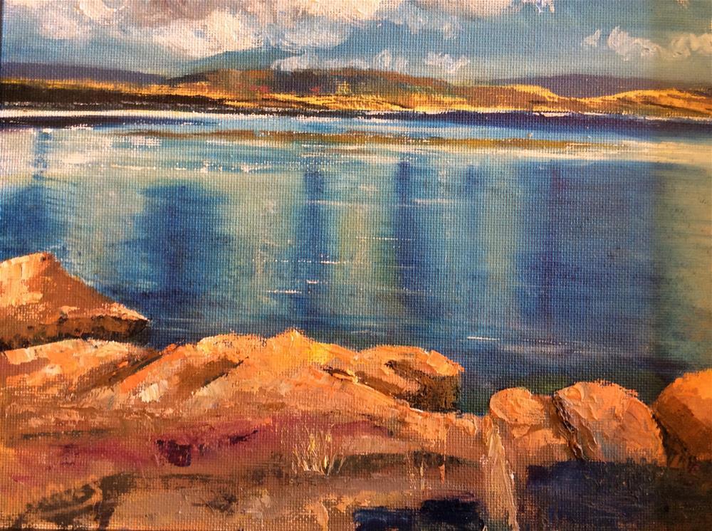 """Abique Lake I"" original fine art by Kathy Marques"