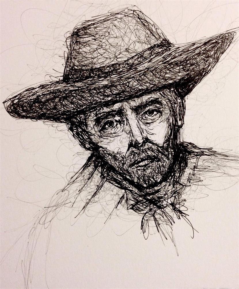 """""""Drawing of Patience"""" original fine art by Roberta Schmidt"""