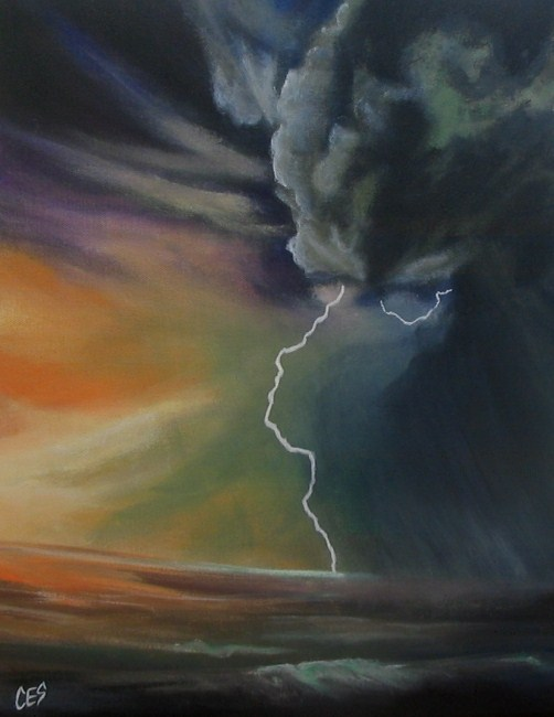 """Storm Chasing"" original fine art by ~ces~ Christine E. S. Code"