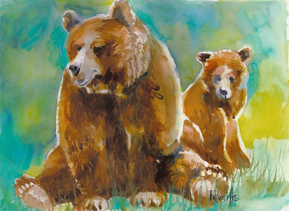 """Bear Sitting"" original fine art by Reveille Kennedy"