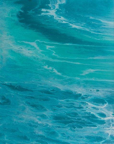 """Abstract Seascape, Ocean Coastal Living Decor, When The Sea Speaks by Colorado Contemporary Artist"" original fine art by Kimberly Conrad"