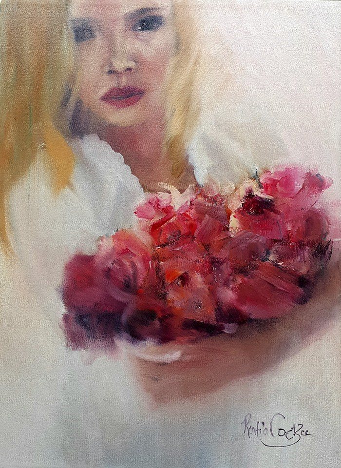 """Flower girl"" original fine art by Rentia Coetzee"