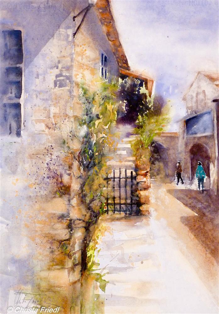"""Monteriggioni, Tuscany, Italy"" original fine art by Christa Friedl"