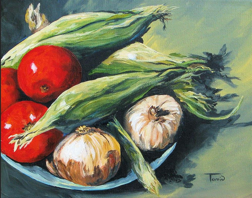 """Summer Vegetables"" original fine art by Torrie Smiley"