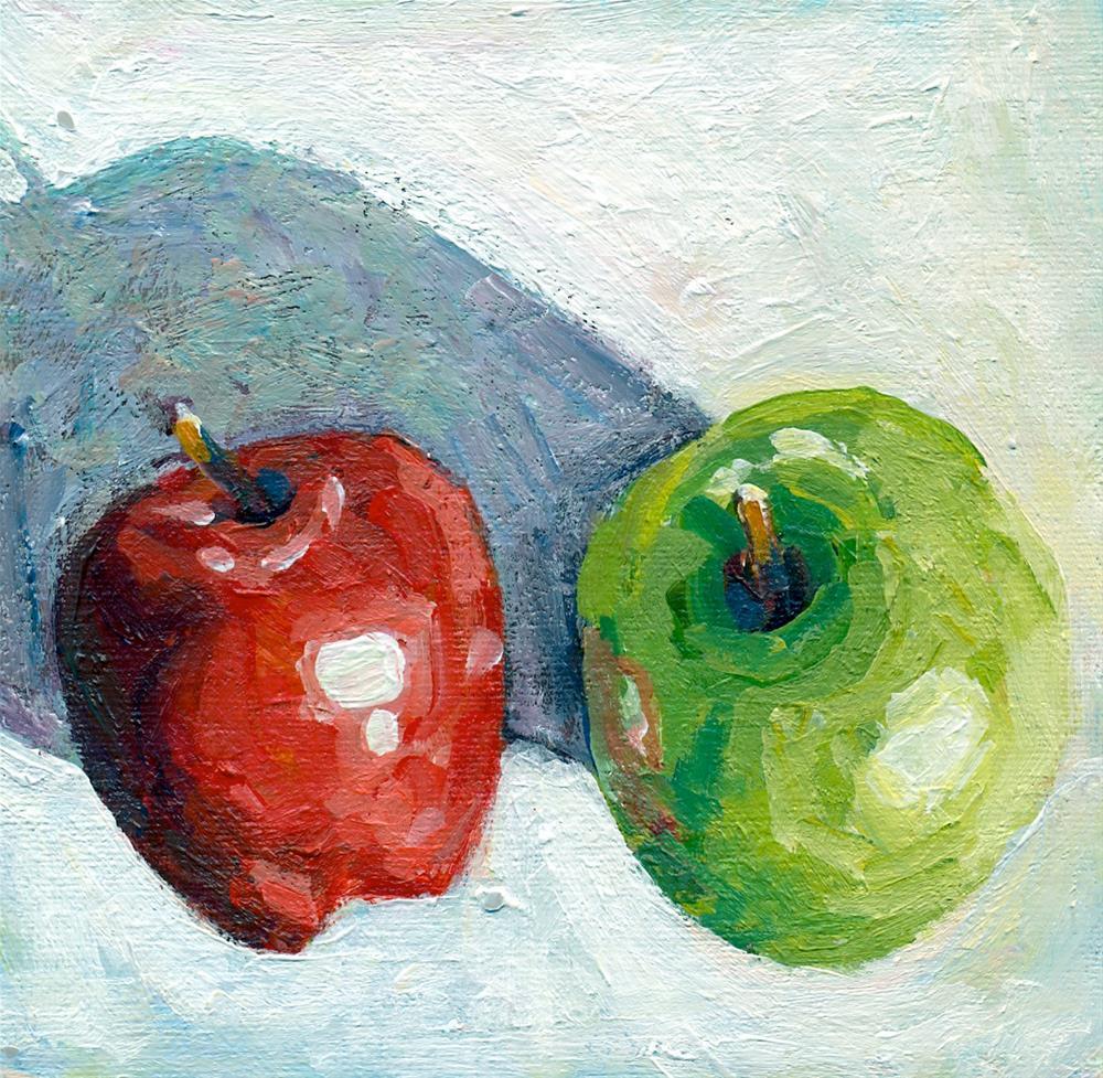 """""""sunlit apples"""" original fine art by Shelley Garries"""