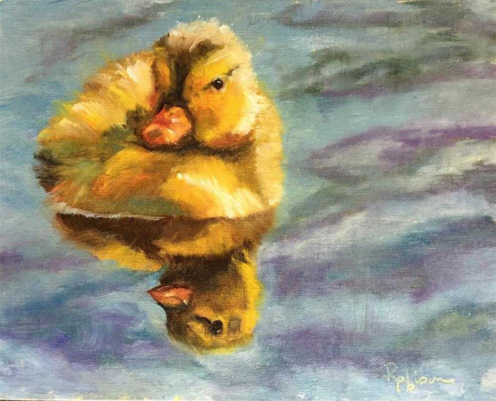 """Paddling About"" original fine art by Renee Robison"