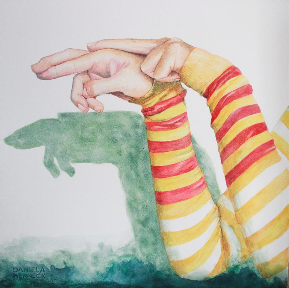 """The Shadow Of A Turtle"" original fine art by Daniela Werneck"