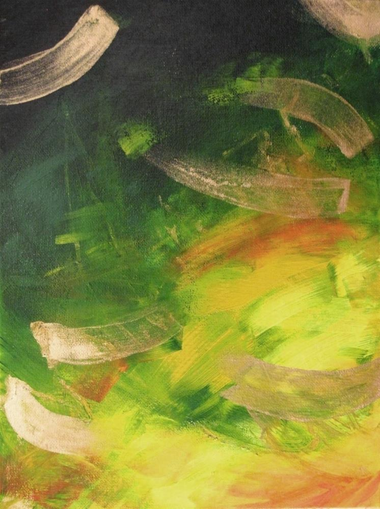 """Green 2.4"" original fine art by Anna Starkova"
