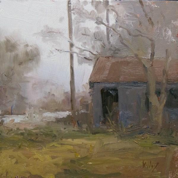 """""""Foggy Day"""" original fine art by Randall Cogburn"""