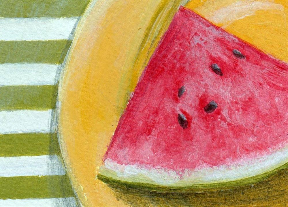 """Summer Stripes"" original fine art by Debbie Shirley"