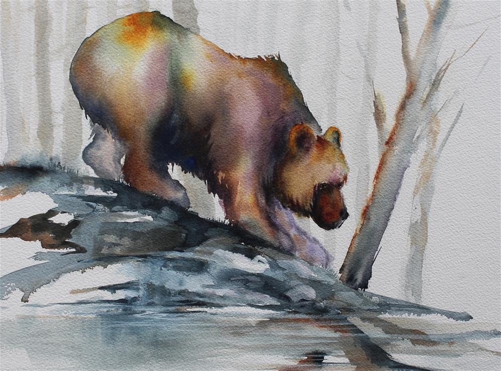 """""""Slip Sliding"""" original fine art by Colleen Drury"""