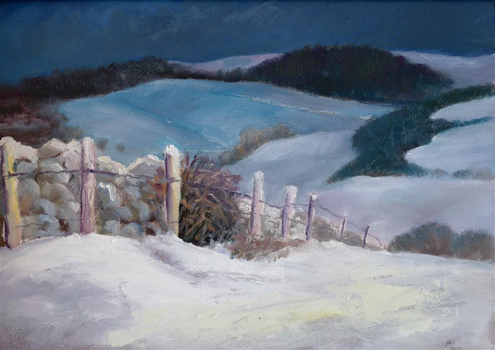 """Winter Wall"" original fine art by Christine Derrick"