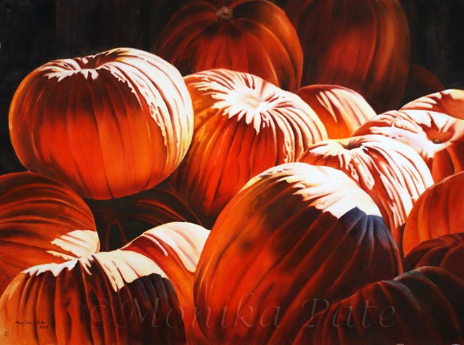 """Autumn Harvest"" original fine art by Monika Pate"