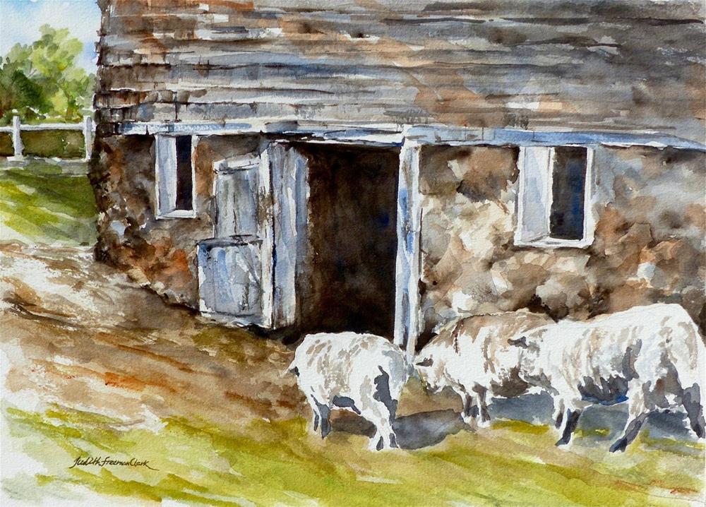 """Follow the Leader"" original fine art by Judith Freeman Clark"