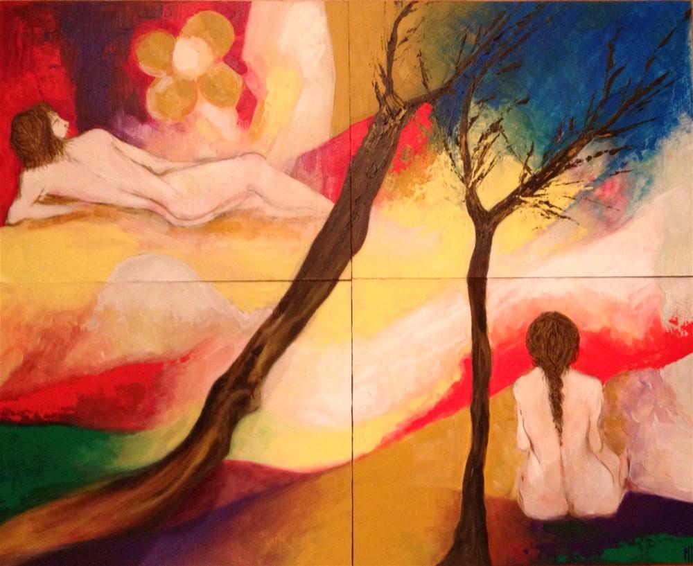 """Contemplating"" original fine art by Monica Pinotti"