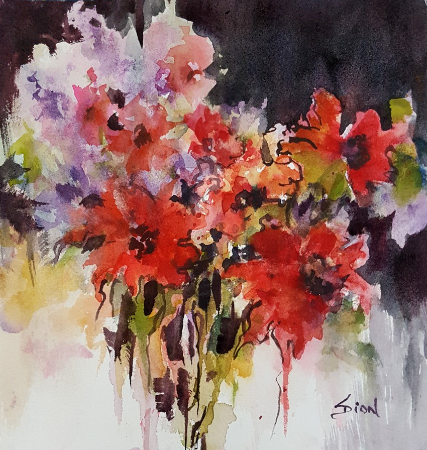 """Revisited"" original fine art by Sue Dion"