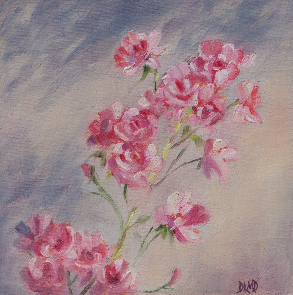 """Blooms Before Autumn"" original fine art by Debbie Lamey-Macdonald"