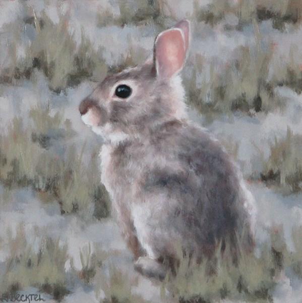 """Baby Cottontail"" original fine art by Sarah Becktel"