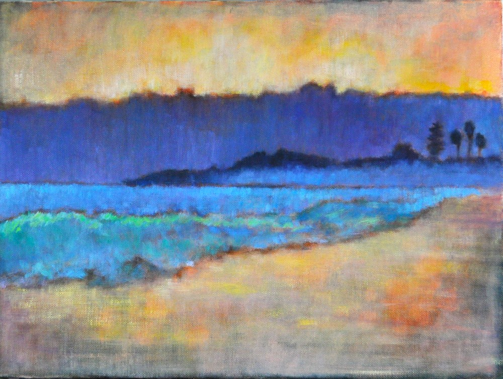 """Sunset Seascape on Coronado"" original fine art by Kevin Inman"
